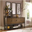Legacy Classic Kateri Sideboard in Hazelnut Finish with Bronze Drawer Pulls