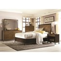 Legacy Classic Kateri Complete Curved Panel Queen Bed with Storage - 3600-4125K