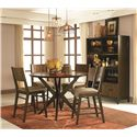 Legacy Classic Kateri 5 Piece Pub Table and Pub Chairs Set - 3600-920+4x945 KD