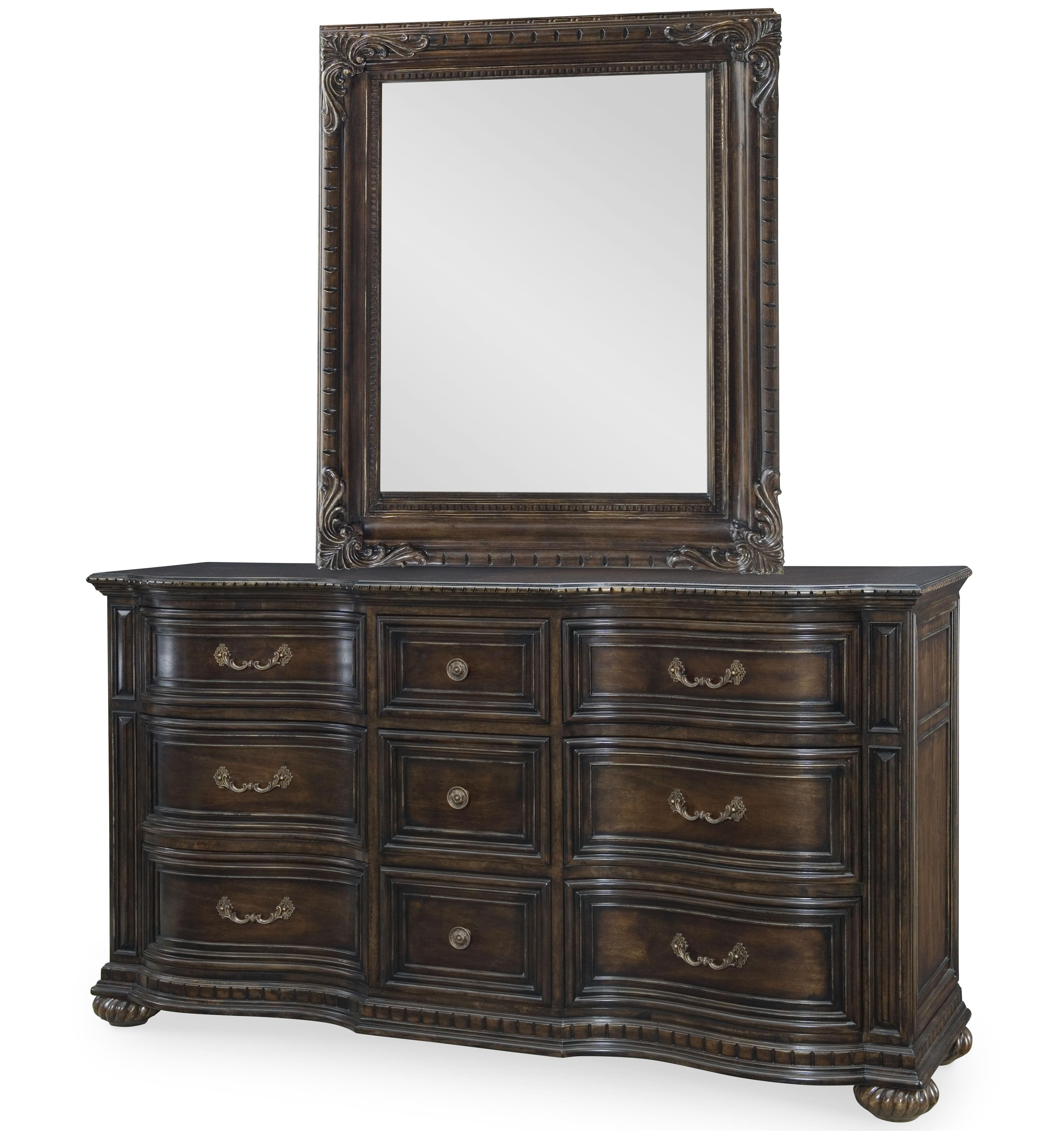 Legacy Classic La Bella Vita Dresser and Mirror Set - Item Number: 4200-1200+0100