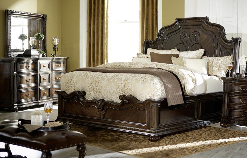 Legacy Classic La Bella Vita King Bed, Dresser, Mirror & Nighstand - Item Number: 4200-KINGBEDROOM