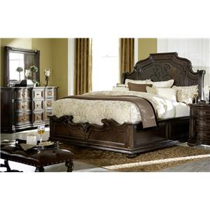 Legacy Classic La Bella Vita King Bed, Dresser, Mirror & Nighstand