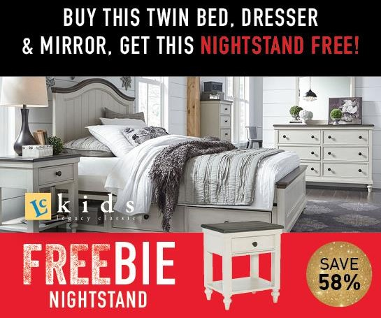 Lacey Lacey Twin Bedroom Group with FREEBIE! by Legacy Classic at Morris Home