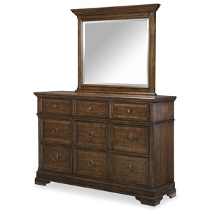Legacy Classic Latham Dresser and Mirror Set