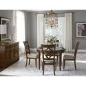 Legacy Classic Latham Diamond Back Side Chair with Upholstered Seat