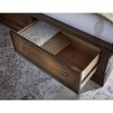 Legacy Classic Latham California King Panel Bed with Storage Footboard
