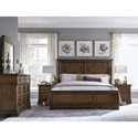 Legacy Classic Latham California King Panel Bed with Crown Molding