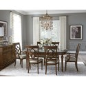 Legacy Classic Latham 7 Piece Dining Set with Oval Table