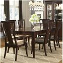Legacy Classic Laurel Heights Flared Leg Dining Table with Splat Back Arm Chairs and Side Chairs - 2740-222+2x241+4x240