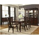 Legacy Classic Laurel Heights Flared Leg Dining Table with Splat Back Arm Chairs and Side Chairs - 2740-222+2x241+4x240 - Shown with Sideboard and China Cabinet