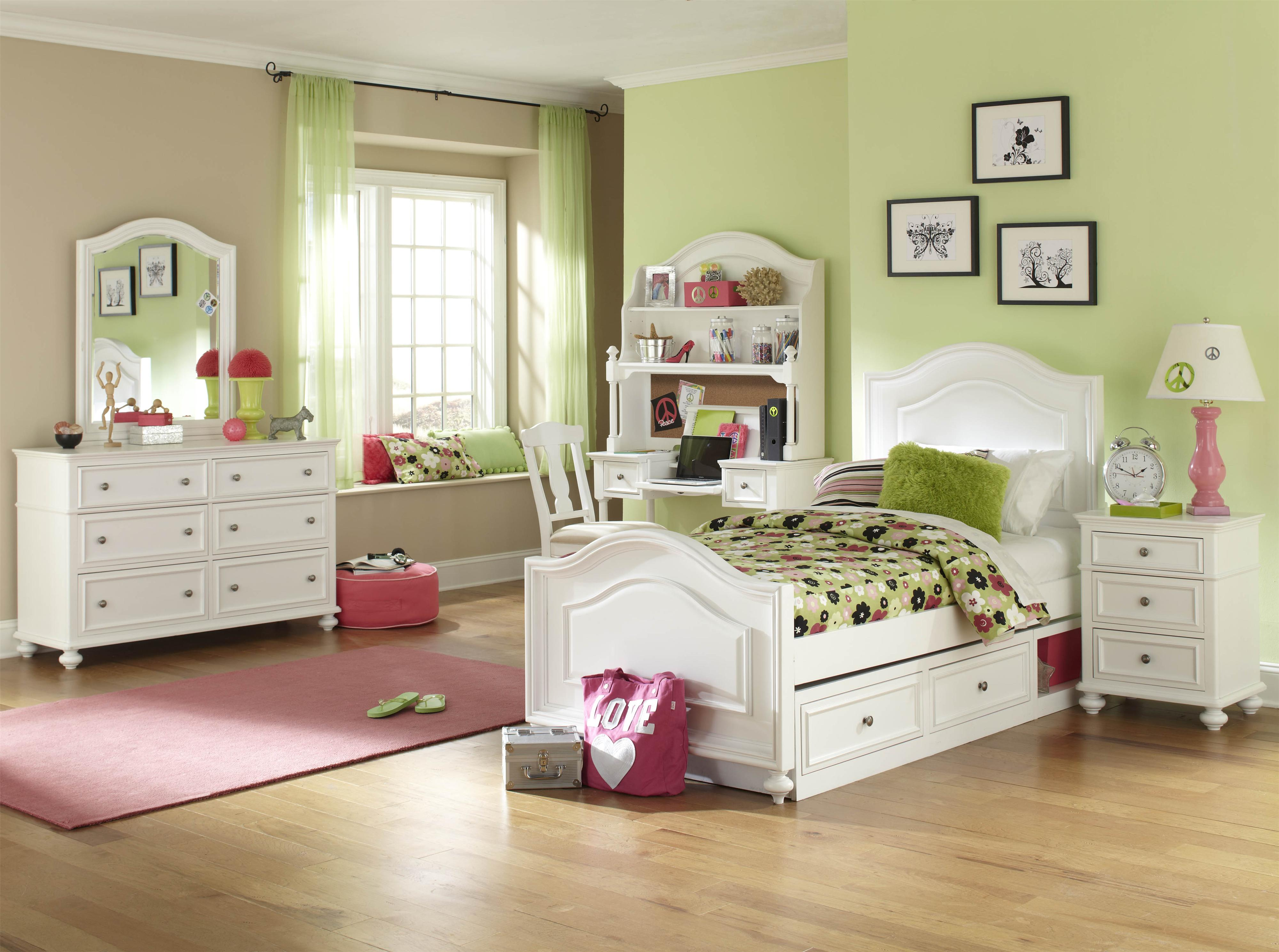 Legacy classic kids madison full size arched panel bed with underbed storage unit olinde 39 s - Schneidermans furniture seating units and bunk beds ...