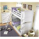 Legacy Classic Kids Madison Classic Twin-over-Twin Size Bunk Bed - Shown with Underbed Storage Unit and Chest of Drawers