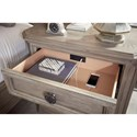Legacy Classic Manor House Relaxed Vintage Bedside Chest with USB Charging Port