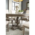 Legacy Classic Manor House Relaxed Vintage Round Pedestal Table with One Table Extension Leaf