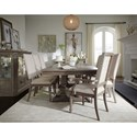 Legacy Classic Manor House Relaxed Vintage Nine Piece Dining Set