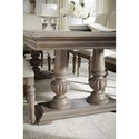 Legacy Classic Manor House Relaxed Vintage Double Pedestal Table with One Table Extension Leaf