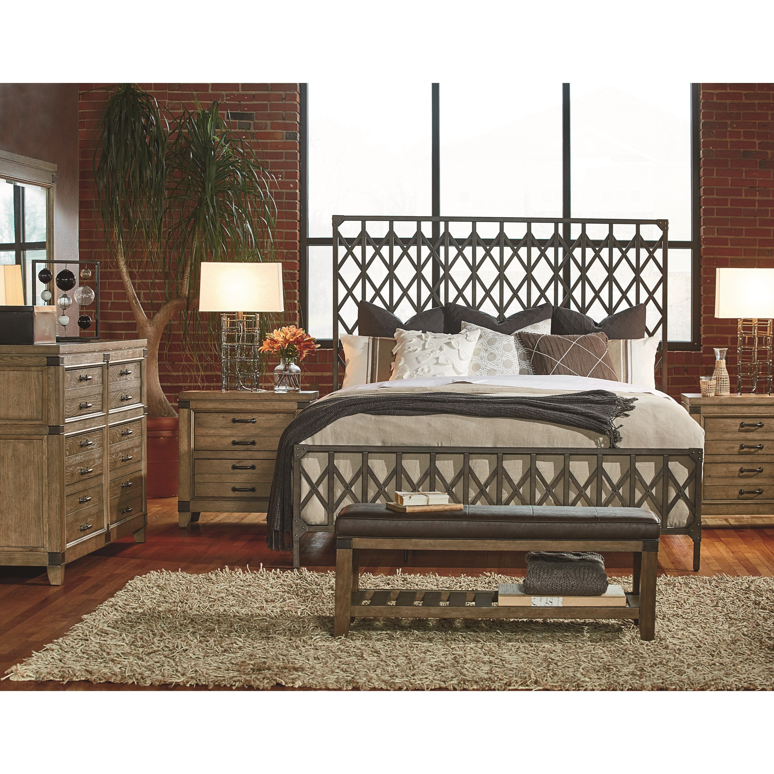 Legacy Classic Metalworks King Bedroom Group - Item Number: 5610 K Bedroom Group 3