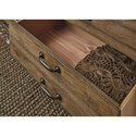 Legacy Classic Metalworks Dresser  with Six Dovetail Drawers