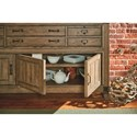 Legacy Classic Metalworks Credenza with Felt Lined Drawers