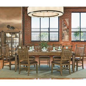 Legacy Classic Metalworks 8 Piece Table and Chair Set