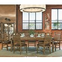 Legacy Classic Metalworks 8 Piece Table and Chair Set - Item Number: 5610-221+2x241-KD+5x240-KD