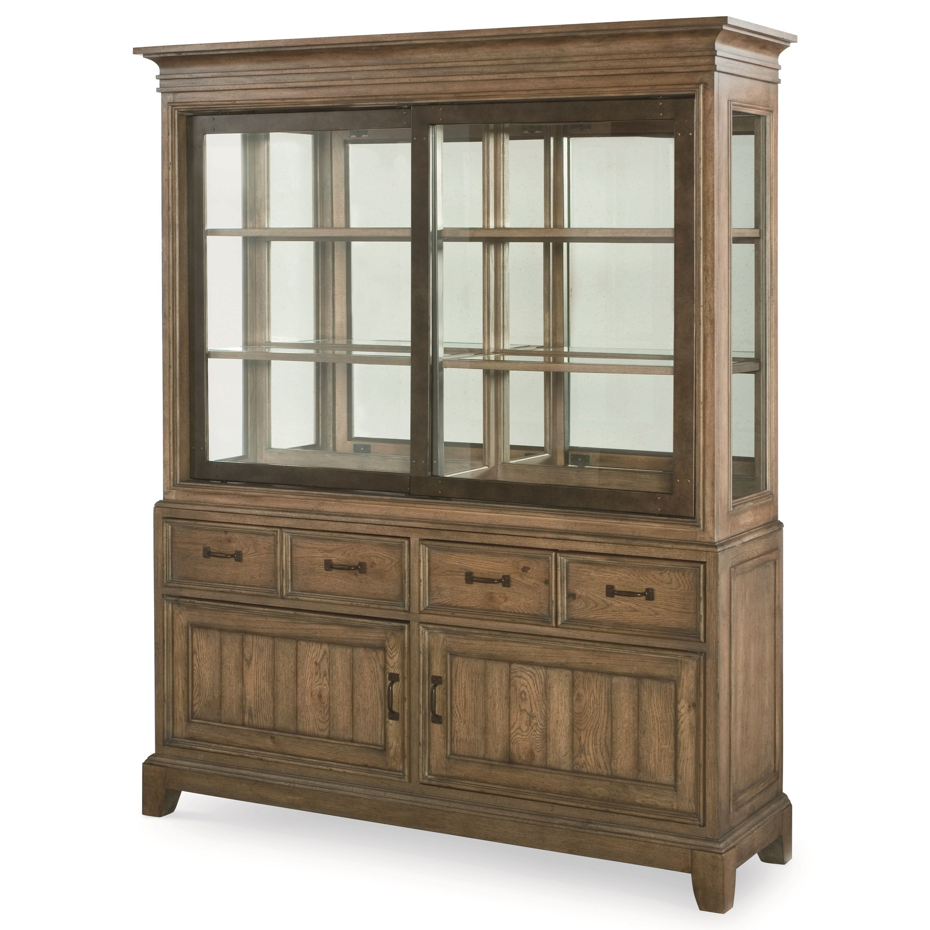 Legacy Classic Metalworks Buffet and Hutch China Cabinet - Item Number: 5610-370+5610-372