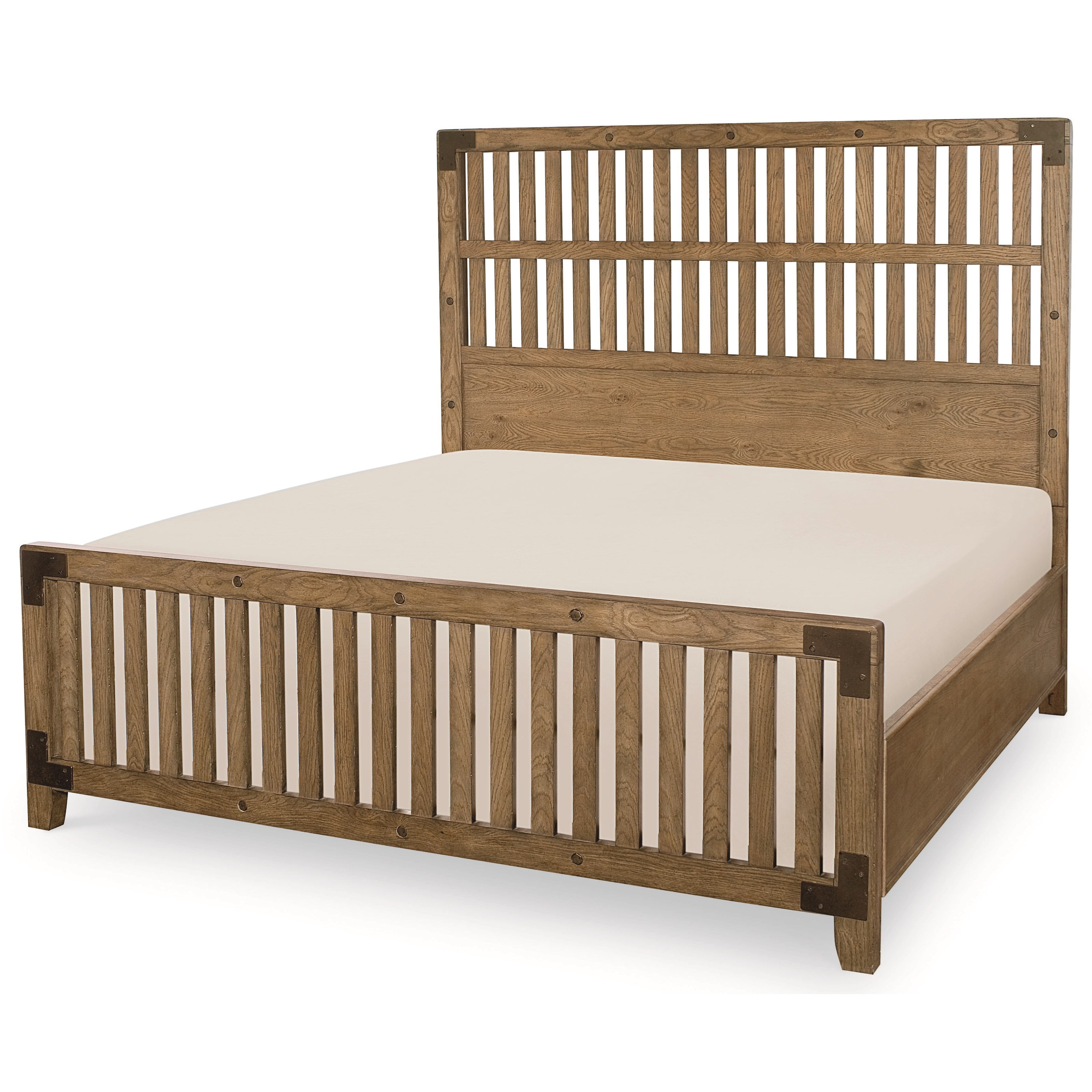 Legacy Classic Metalworks California King Complete Wood Gate Bed - Item Number: 5610-4207K