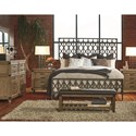 Legacy Classic Metalworks King Metal Bed with Industrial Design