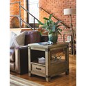 Legacy Classic Metalworks End Table  with Dovetail Drawer