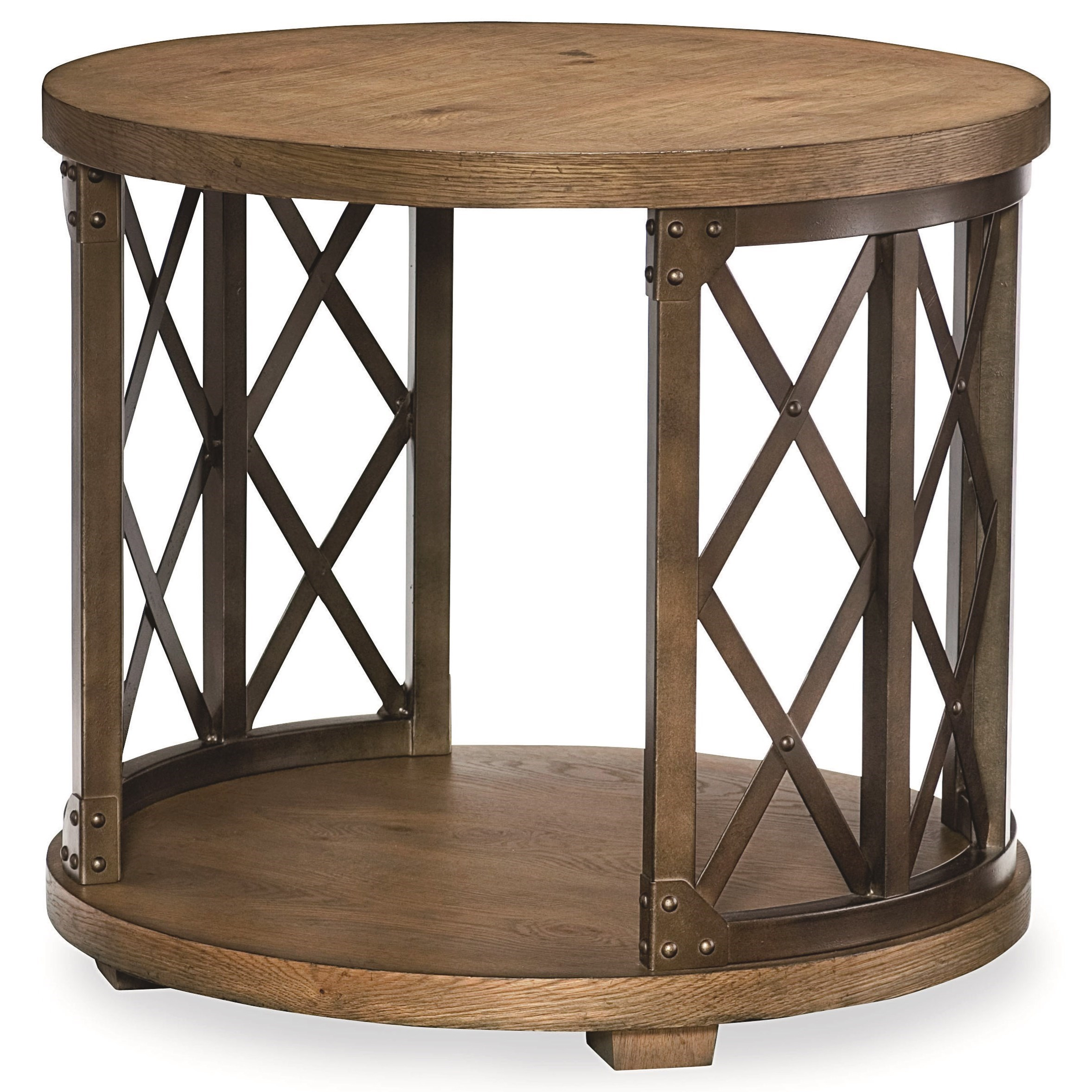 Legacy Classic Metalworks Round Lamp Table  - Item Number: 5610-507