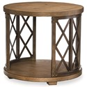 Legacy Classic Metalworks Round Lamp Table with Bottom Shelf