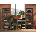 Legacy Classic Metalworks Writing Desk with Four Shelves