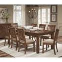 Legacy Classic Oxford Place 9-Piece Table and Chair Set - Item Number: 9931-121+8x140