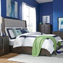 Legacy Classic Paldao Contemporary Queen Upholstered Shelter Bed