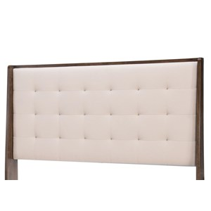 Queen Upholstered Shelter Headboard