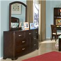 Legacy Classic Kids Park City Arched Dresser Mirror - Shown with Adjoining 7-Drawer Dresser