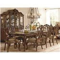 Legacy Classic Pemberleigh 9 Piece Rectangle Leg Table and Pierced Back Chairs Set