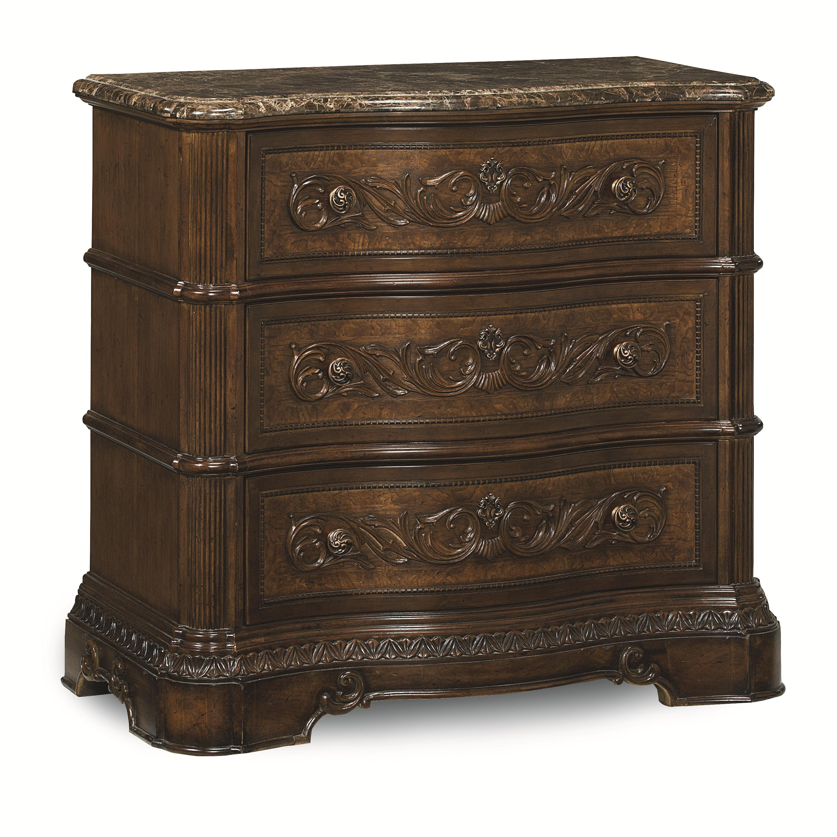 Legacy Classic Pemberleigh Bedside Chest with Marble Top - Item Number: 3100-3200