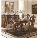 Legacy Classic Pemberleigh Round to Oval Single Pedestal Table