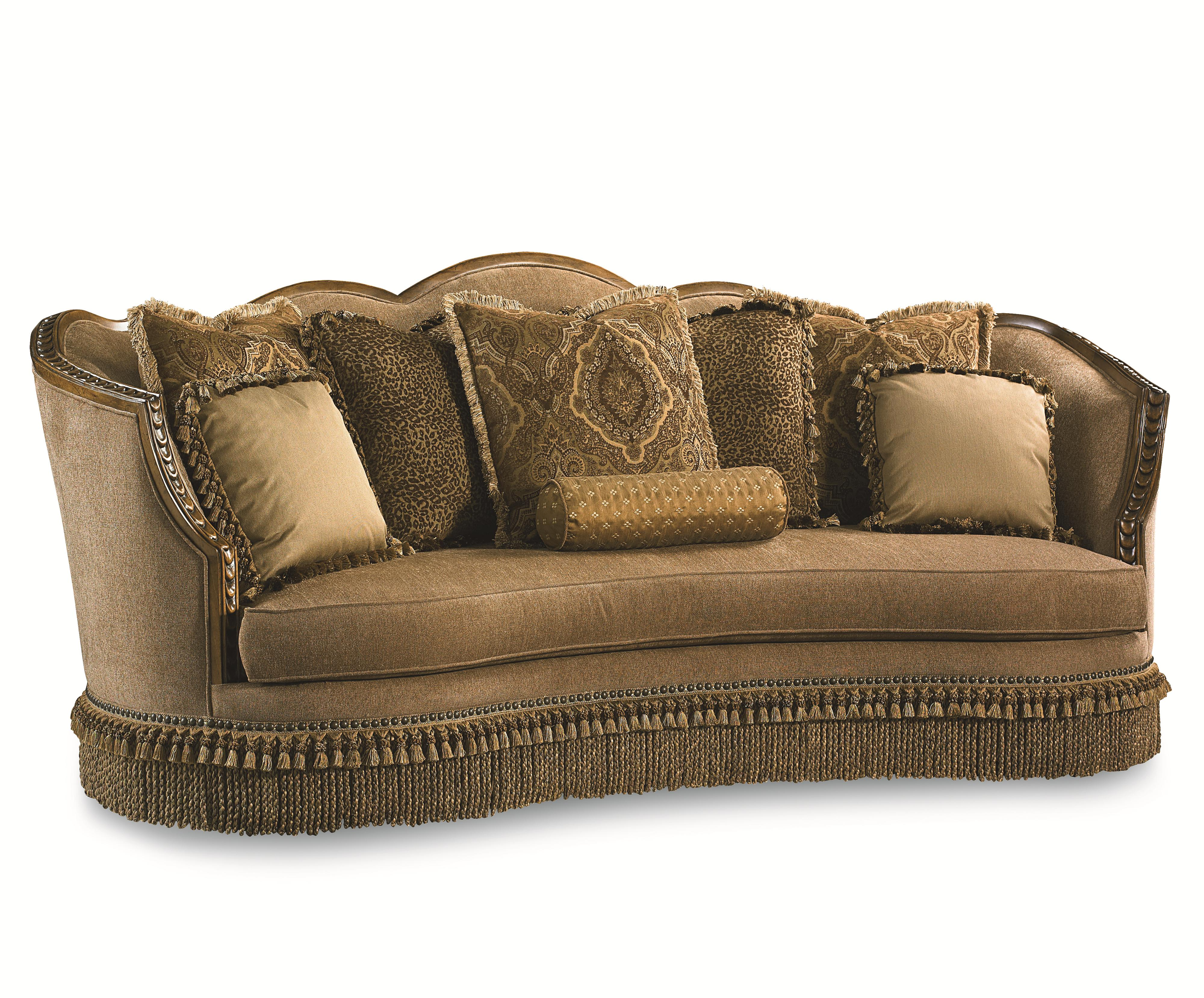 pemberleigh sofa with nailhead trim and exposed wood trim. Black Bedroom Furniture Sets. Home Design Ideas