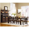 Legacy Classic Perspectives Contemporary Sideboard & Hutch - Shown with dining table set