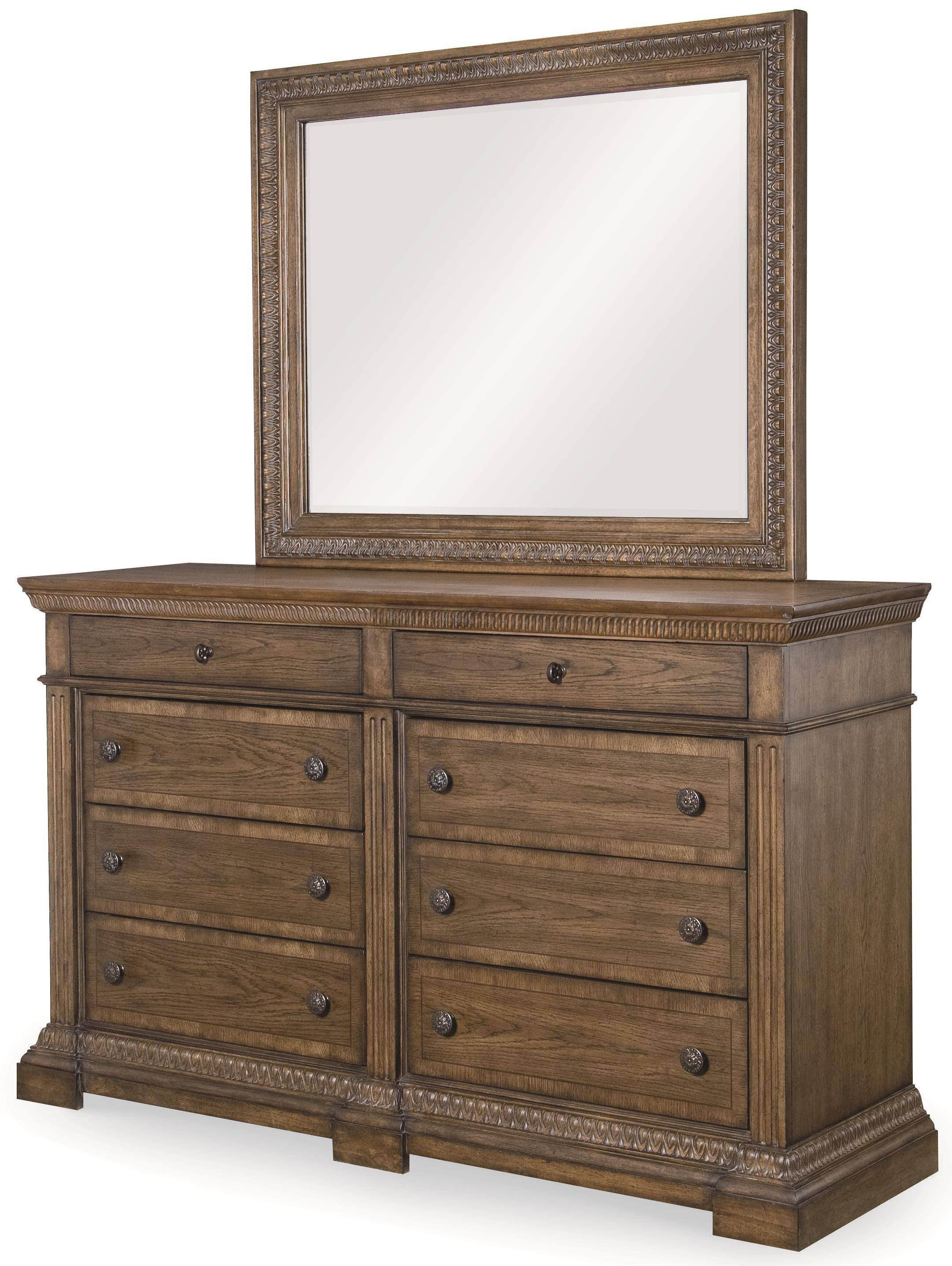 Legacy Classic Renaissance Dresser and Mirror Combo - Item Number: 5500-1200+0100