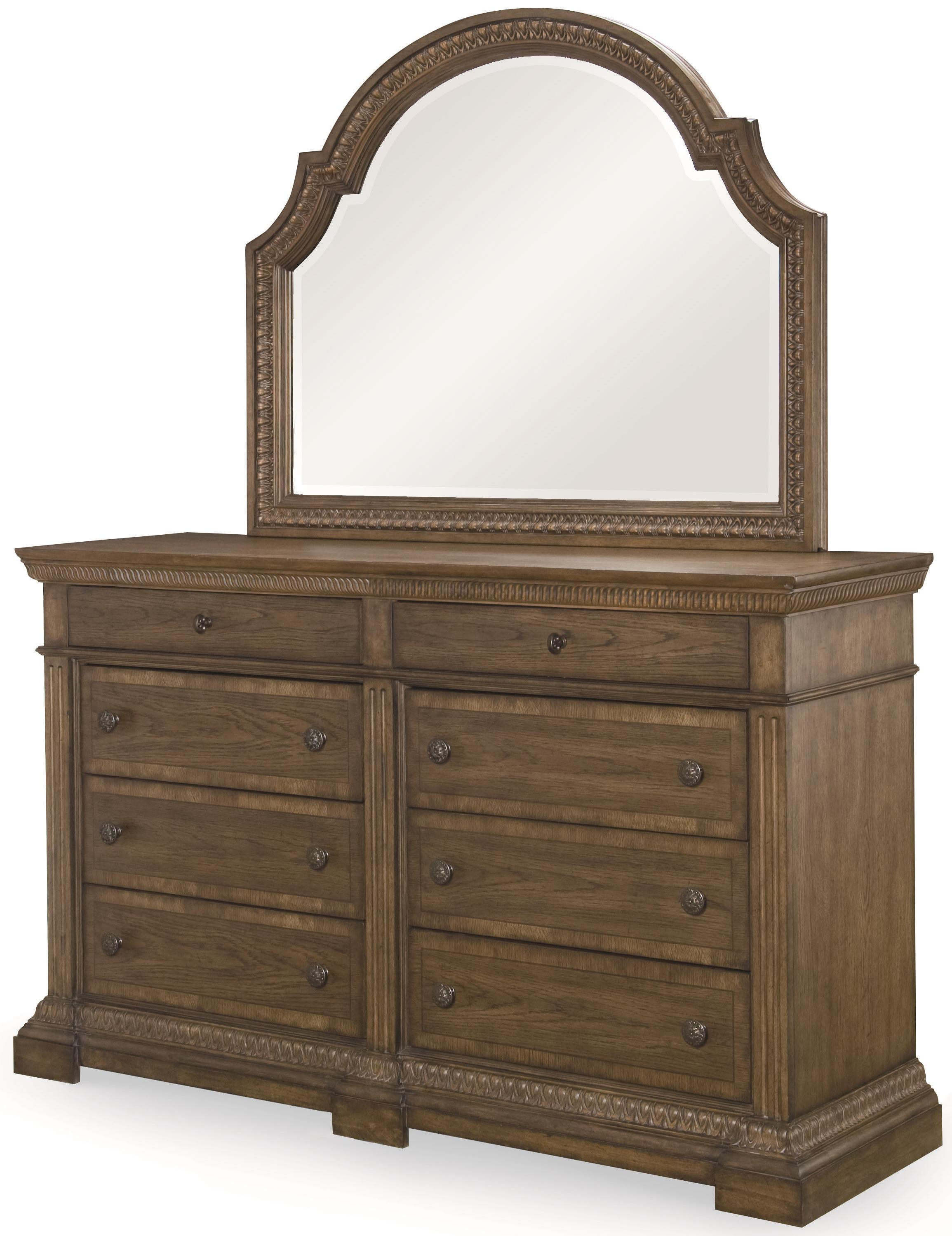 Legacy Classic Renaissance Dresser and Mirror Combo - Item Number: 5500-1200+0200