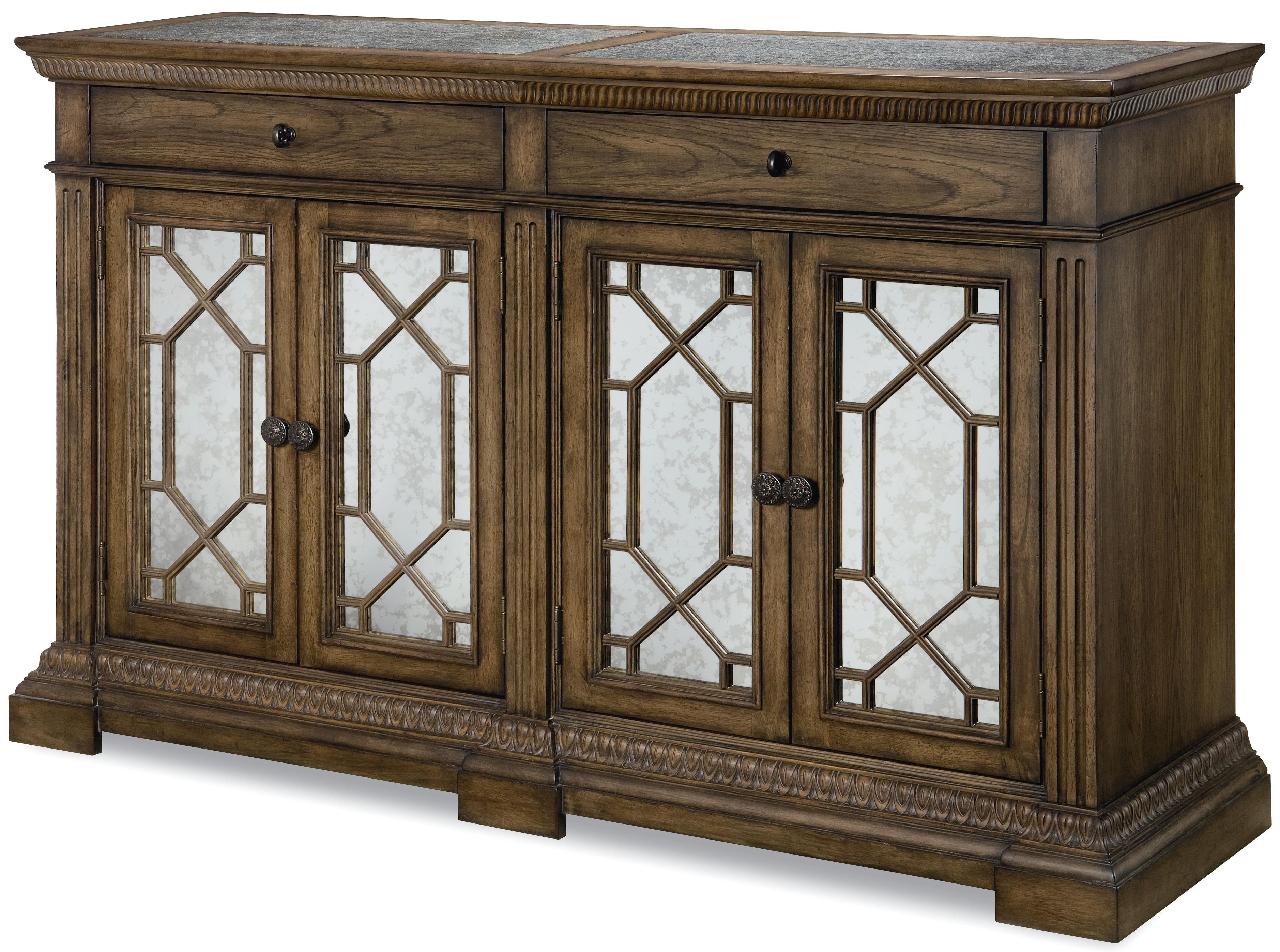 Legacy Classic Renaissance Credenza with Marble Top - Item Number: 5500-151