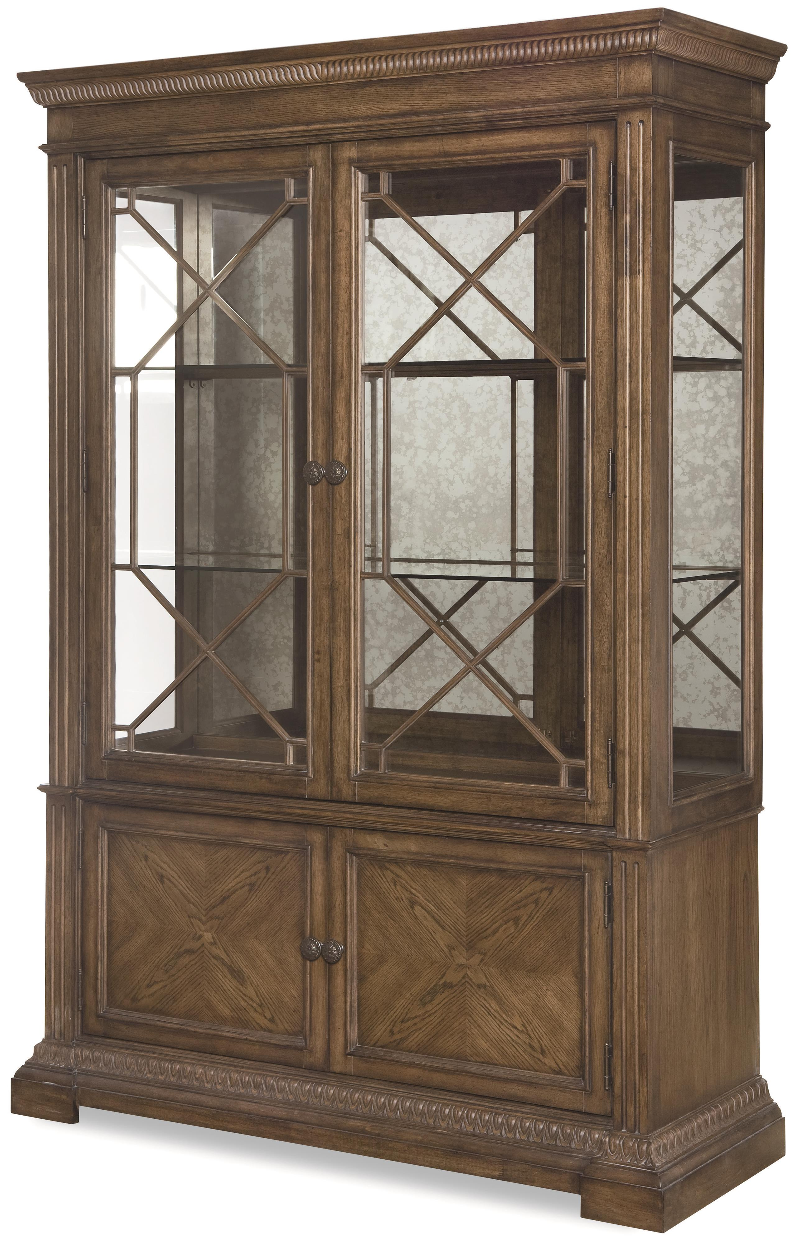 Legacy Classic Renaissance Display Cabinet - Item Number: 5500-174-T+B
