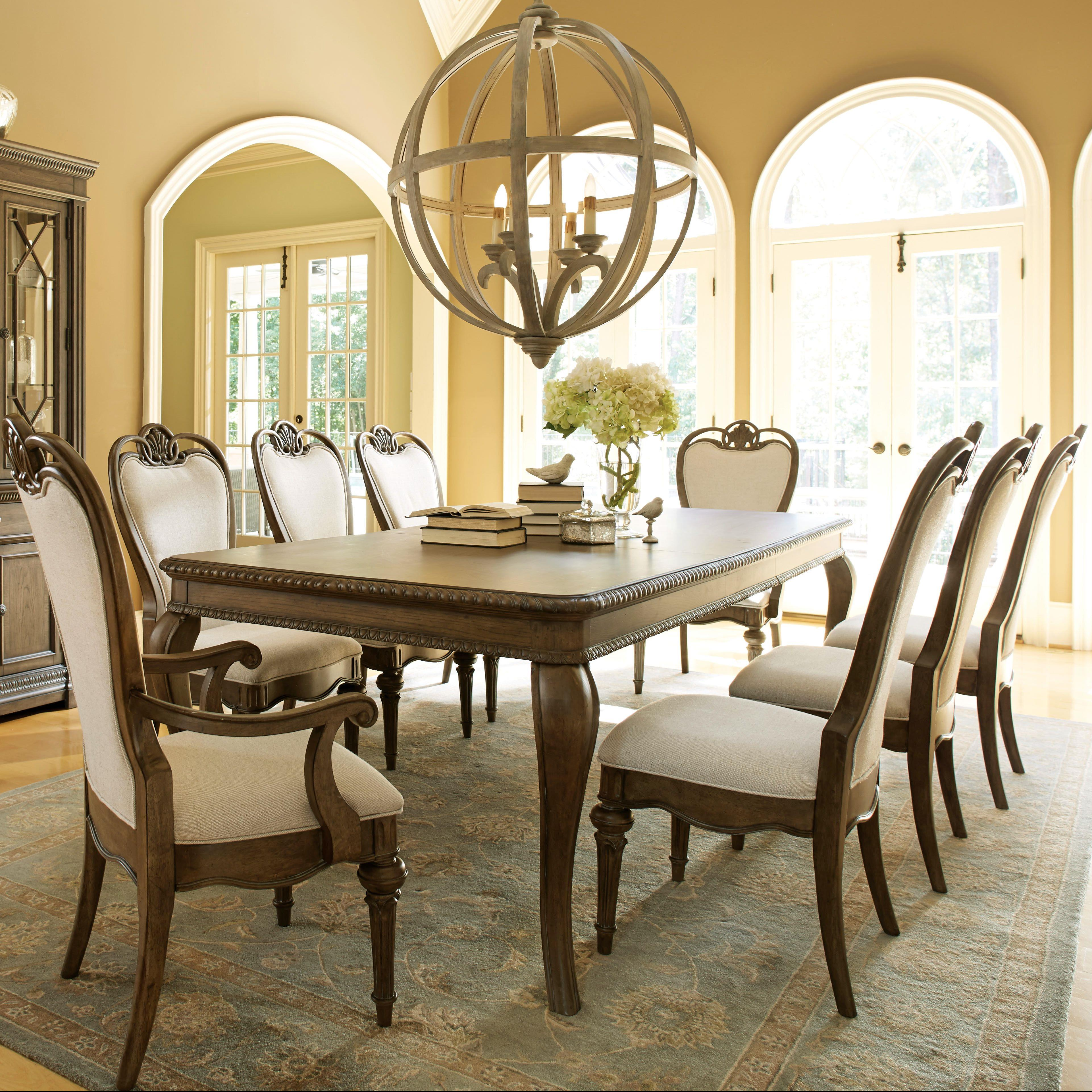Legacy Classic Renaissance 9 Piece Table and Chair Set - Item Number: 5500-221+2x241 KD+6x240 KD