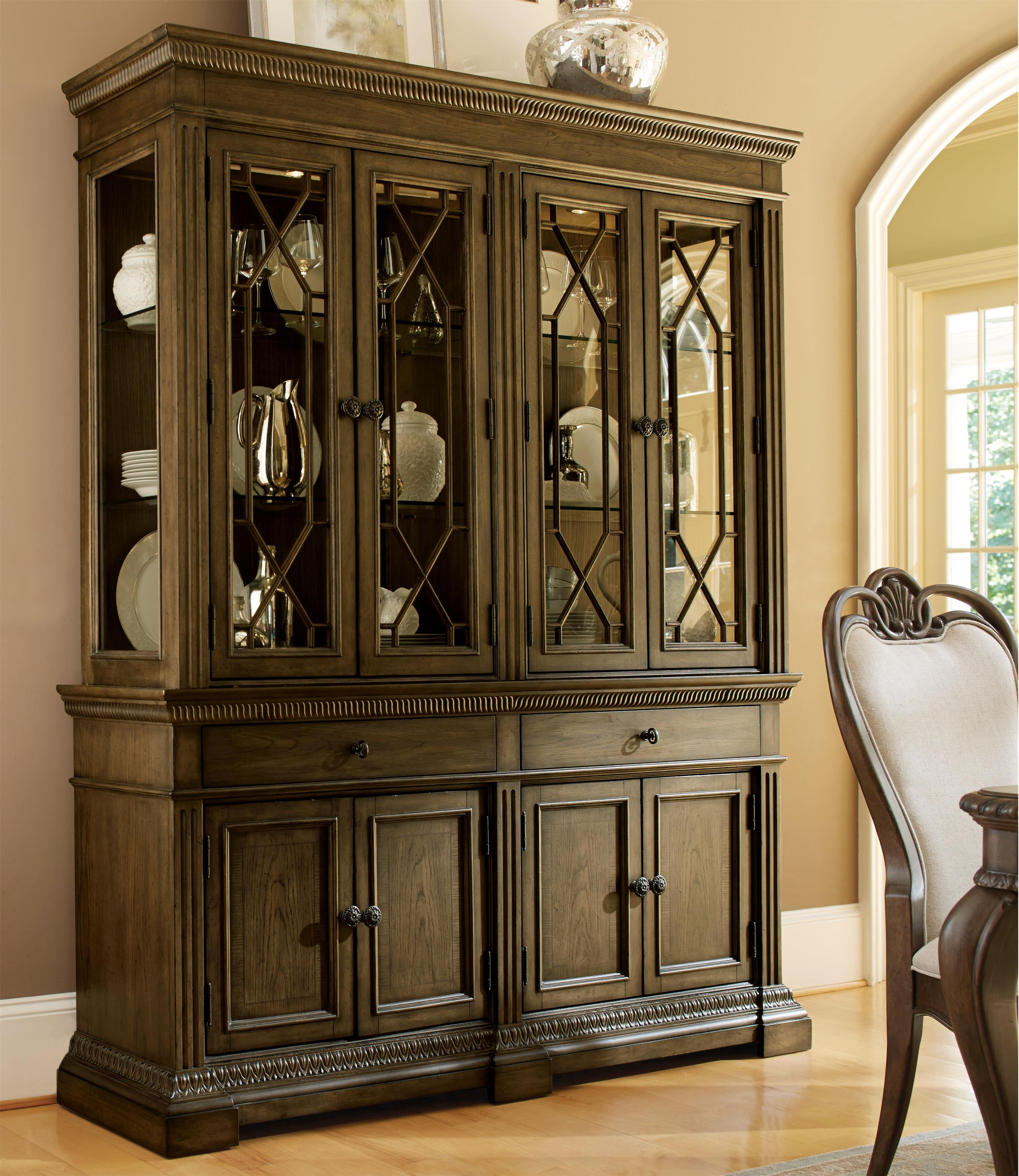 Legacy Classic Renaissance China Cabinet - Item Number: 5500-370+372