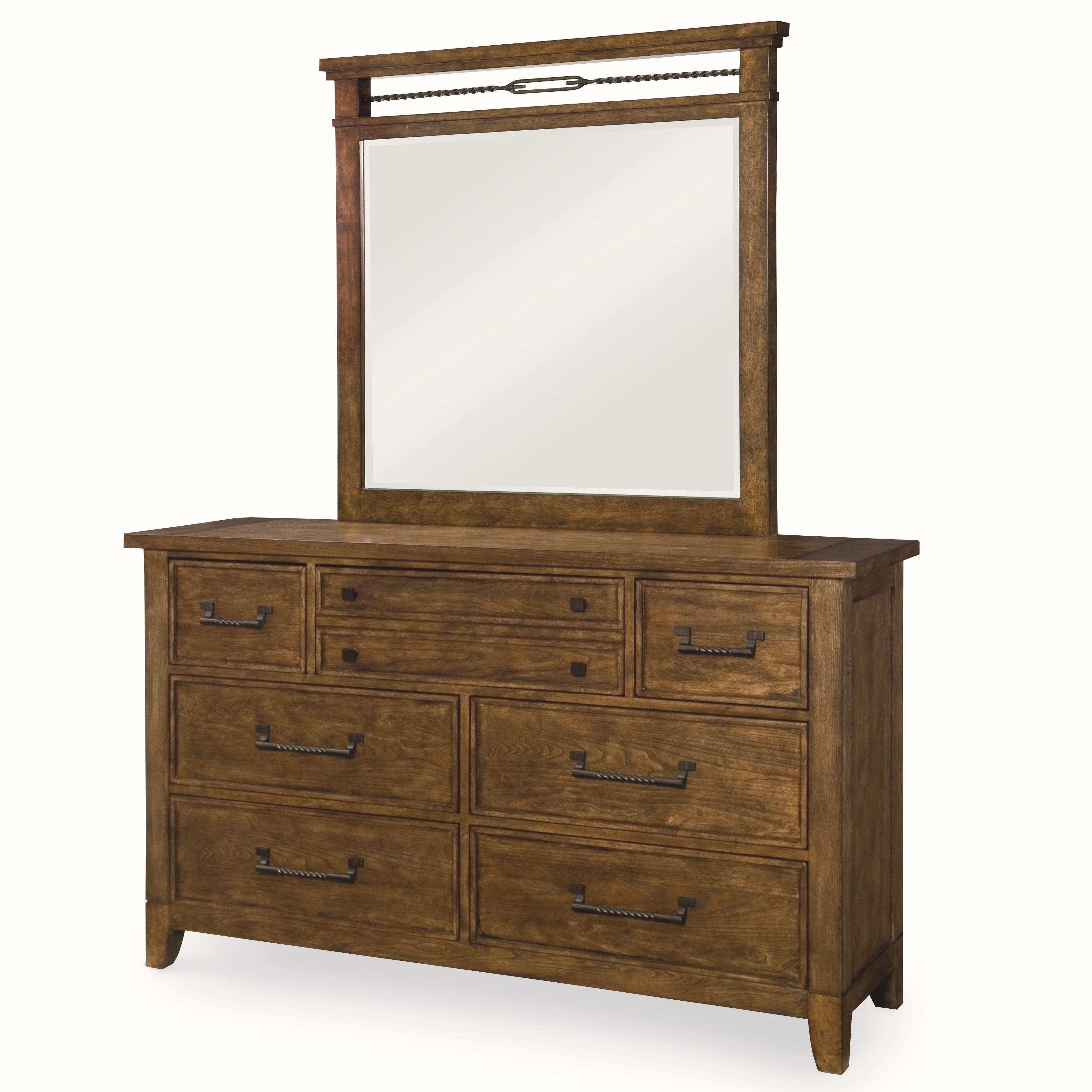 Legacy Classic River Run Dresser and Mirror Set - Item Number: 4740-1200+0200