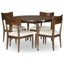 Legacy Classic Savoy 5-Piece Table and Chair Set - Item Number: 0580-520+4x140