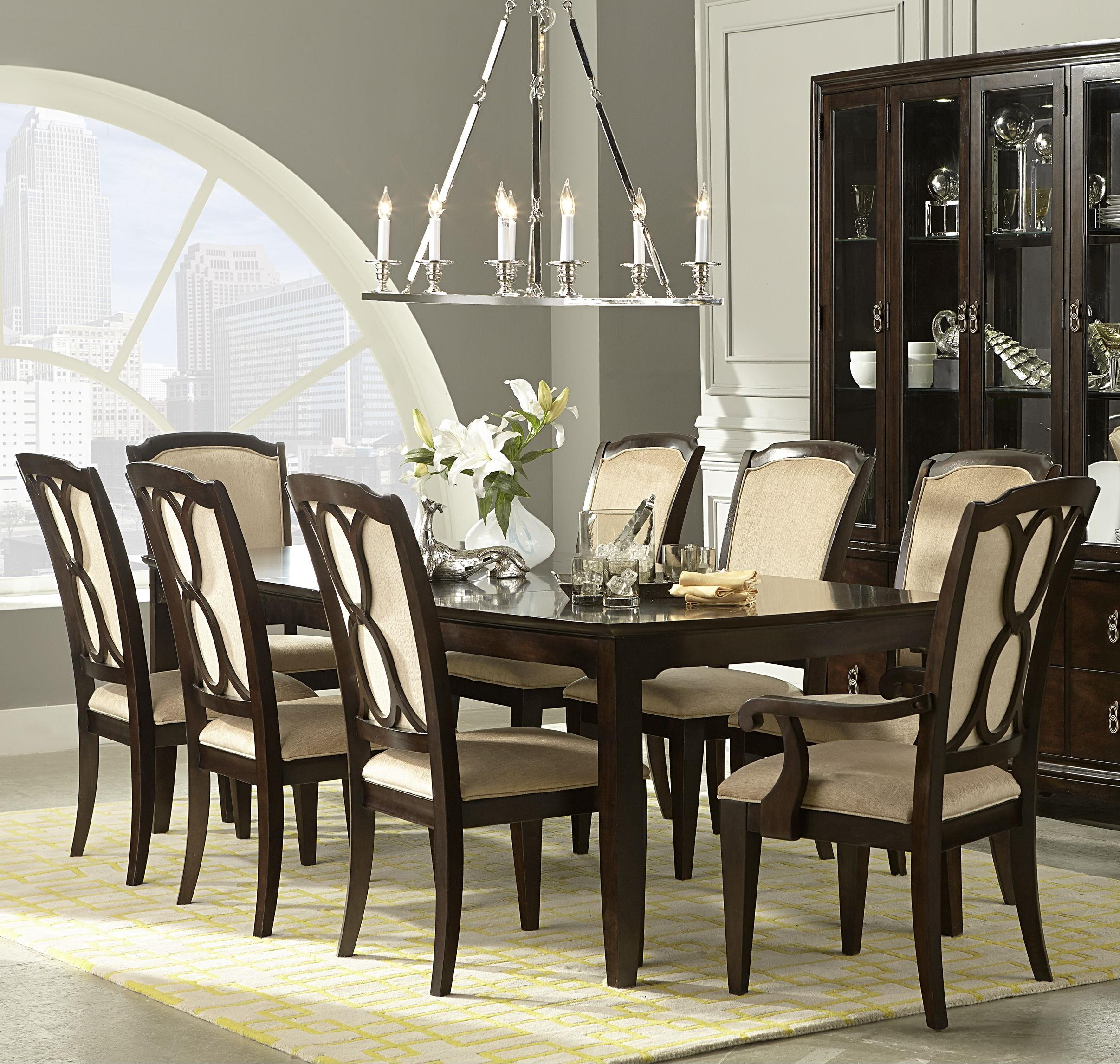 Legacy Classic Sophia 9 Piece Table and Chair Set - Item Number: 4450-222+2x241 KD+6x240 KD